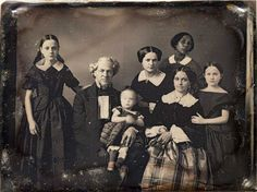 """Daguerreotype of a family with an African-American servant, """"In 1912 the… Antique Photos, Vintage Pictures, Vintage Photographs, Old Pictures, Old Photos, Louis Daguerre, Old Family Photos, African American History, Black History"""