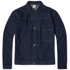 orSlow Pleated Front Type III Denim Jacket (One Wash)
