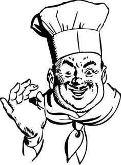 Chef Clipart Black And White   Clipart Panda - Free Clipart Images