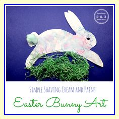 Preschool Easter Art - Teaching 2 and 3 Year Olds