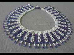 Kolye DünyasıTakı Tasarımları | Takı Tasarımları Seed Bead Necklace, Diy Necklace, Beaded Earrings, Beaded Jewelry, Beaded Bracelets, Seed Bead Tutorials, Beading Tutorials, Handmade Beads, Handmade Jewelry
