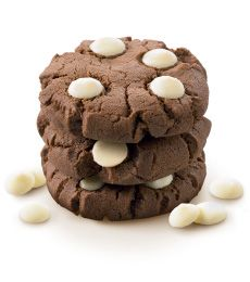 Dark Chocolate Cookies With White Baking Chips - Delicious on their own or particularly good served with scoop of vanilla ice cream and a drizzle of chocolate sauce for something special!