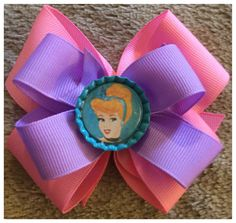 A personal favorite from my Etsy shop https://www.etsy.com/listing/470185272/cinderella-pink-purple-hair-bow