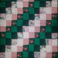 "A miniature doll's quilt, 9 x 11.5"", by Nadine Flagel."