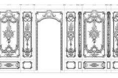 Дизайн-проект гостиной в стиле барокко. Развертки стен: Лепнина.