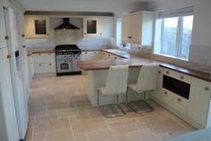 Image result for grey and cream shaker kitchen