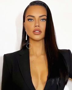Adriana Lima adriana limaYou can find Adriana lima and more on our website. Non Blondes, Glam Style, Celebs, Celebrities, Bun Hairstyles, Beautiful Eyes, Dark Hair, Lace Front Wigs, Rihanna