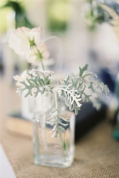 Flower Arrangements Inspiration: Photo by Loren Routhier on Southern Weddings #understated #simplicity #centerpieces