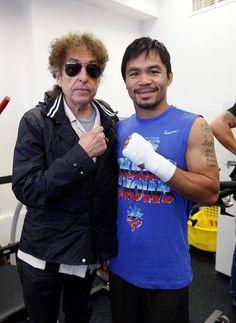 Bob Dylan visita boxeador (e tira foto!) - Dylanesco