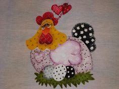 pintura em tecido pano de prato galinha - Pesquisa Google