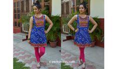 Indian Ethnic Office wear Lookbook short kurti with leggings