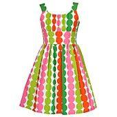 Rare Editions Girls Dress, Girls Multi Dot Sundress