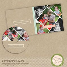 Cd Dvd Disc Label and Cover Template for Photographers INSTANT DOWNLOAD