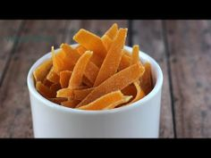 ▶ Mứt cam (Candied orange peel) - YouTube