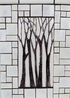 Art Vineyard Ceramic Mural Backsplash Bath Tile #50