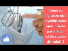 Como higienizar seu liquidificador após usa-lo para fazer sabão de soda - YouTube Soda, Personal Care, Bottle, Youtube, House Cleaners, Beverage, Self Care, Soft Drink, Personal Hygiene