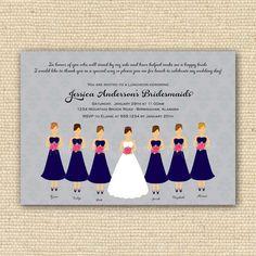 Bridesmaids Luncheon Invitation  Bridal Brunch  DIY by PoofyPrints, $23.00