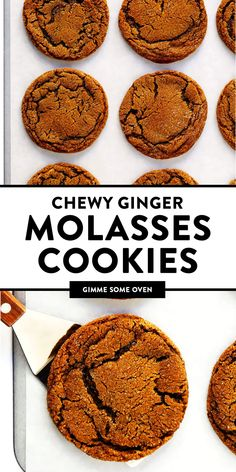 LOVE these Ginger Molasses Cookies! They are perfectly soft and chewy, spiced with lots of ginger, cinnamon and cloves, easy to make, and irresistibly delicious. | Gimme Some Oven #cookies #ginger #molasses #baking #dessert #holiday #christmas #recipe