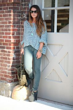 This outfit is great for a day out shopping. The shirt is nice and flowy. Instead of tight shirts that might make you feel uncomfortable all day. The jeans are so cute and the perfect color to match the shirt. The shoes are cute, but you could also pair the outfit with cute flats or sandals.