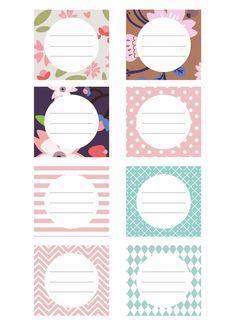 Book Labels, Printable Labels, Printable Stickers, Printable Planner, Free Printables, Journal Stickers, Journal Cards, Planner Stickers, School Labels