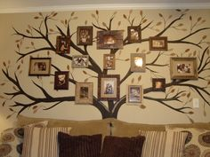 My family tree mural...copied from another I found on pinterest