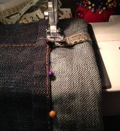 How to Shorten Your Jeans With Original Hem by Karen Kerr