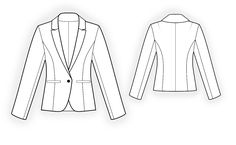 Classical Jacket - Sewing Pattern #4162 Made-to-measure sewing pattern from Lekala with free online download.