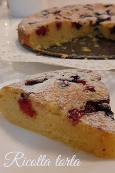 Ricotta, Banana Bread, Muffin, Food And Drink, Cake, Recipes, Food Cakes, Cakes, Recipies