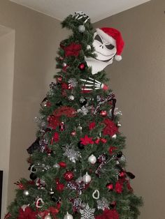 here is jack checking out whats happening in our house this - Jack Skellington Christmas Decorations