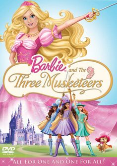 Barbie And The Three Musketeers on DVD from Universal. More Fantasy, Family and Children's DVDs available @ DVD Empire. Barbie Portal Secreto, Peliculas Western, Walt Disney, Barbie Cartoon, Three Best Friends, Be With You Movie, The Three Musketeers, Barbie Movies, Barbie Stuff