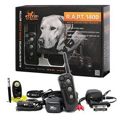 DT Systems  RAPT 1400 Series Remote Control Dog Training Electric Shock Collar System with PetsTEK Clicker and Whistle Training Kit ** More info could be found at the image url.