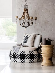 As South Africa's leading furniture and homeware store, our aesthetic is about combining Scandinavian-inspired design with the textures of nature. Little White, Black And White, Weylandts, House By The Sea, Candle Chandelier, Accent Chairs, Design Inspiration, Stargazer, Throw Pillows