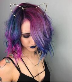 Love the hair color! (& the cat ears too of course!)