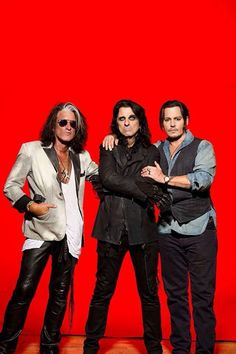 Joe Perry, Alice Cooper, Johnny Depp - Hollywood Vampires