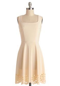 Eyelet Getaway Dress in Ecru, #ModCloth