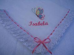 Mantinha de fralda personalizada com bordado a maquina (nome ), lese e passa fita. R$ 38,50