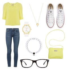 Movie Date by kaylaherring97 on Polyvore featuring polyvore, fashion, style, Billie & Blossom, Paige Denim, Converse, BCBGeneration, Joolz by Martha Calvo, Kate Spade and Ray-Ban