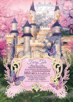 Princess Party Invitation Princess Castle by BellaLuElla on Etsy