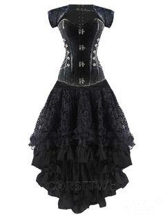 1e26796937 Cheap Steampunk Steel Boned Bustier Tops Overbust Corset Dress online for  sale! Wholesale Steampunk Steel