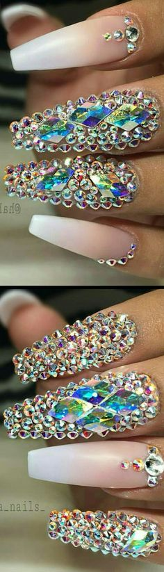 Do you guys like theese ? Dope Nails, Glam Nails, Fancy Nails, Bling Nails, Crazy Nails, Stiletto Nails, Beauty Nails, Pretty Nails, Hair And Nails