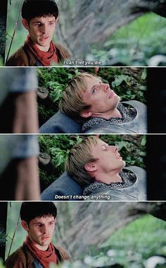 Merlin and Arthur: I'll decide........ *crying* *dying*