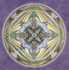 Healing Mandala Giclee on Canvas