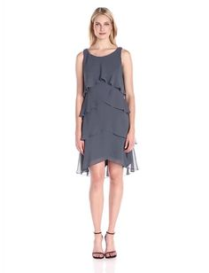 S.L. Fashions Women's Jewel Strap Multi Tiered Cocktail Dress:Summer Fashion: Spring Outfits:Casual Outfits:Cute Outfits: Summer Outfits: Spring Outfits:Spring Outfits:Summer Dress