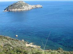 The wonderful sea and the Isolotto of Porto Ercole in Monte Argentario, Costa d'Argento, Maremma, Tuscany, Italy