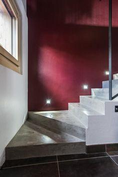 Escalier MF - béron ciré Valais #escalier #béton ciré #stairs #waxed concrete