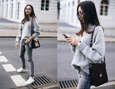 Beatrice Gutu - Sweater, Jeans, Watch, Sneakers, Bag - Cozy Sunday