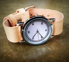 Wrist watch Leather Watch Women's Watch Leather by ispoopaa1979