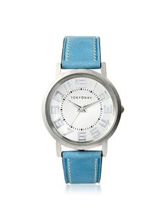 TOKYObay Women's T135-BL Platform Blue/White Brass-Plated Watch at MYHABIT Cool Style, Plating, Platform, Blue And White, Brass, Watches, Womens Fashion, Green, Accessories