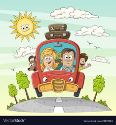 Young family goes on vacation vector image on VectorStock Couple In Car, Bog, Car Illustration, Young Family, Suitcases, Adobe Illustrator, Separate, Vector Free, Pikachu