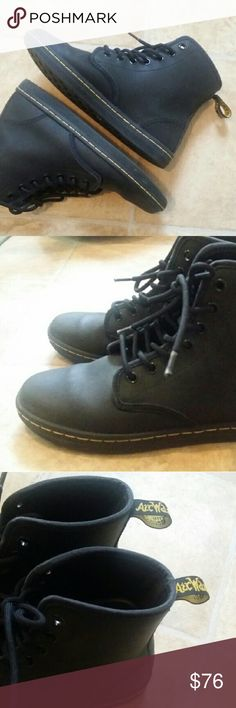 Dr. Martens Leather Boots Worn once! Almost new like/ leather/street style/love black/ jeans soul mate XD Dr. Martens Shoes Ankle Boots & Booties